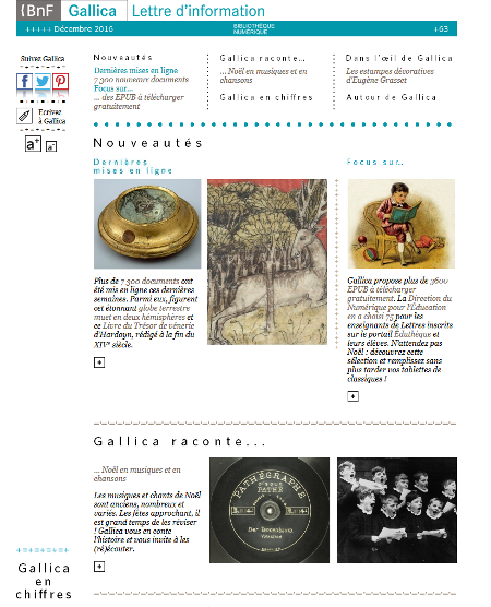 newsletter gallica